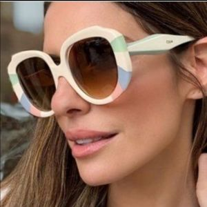 Chloe Accessories - Chloe Pastel Rainbow Rectangle Sunglasses